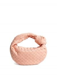 BOTTEGA VENETA The Jodie mini Intrecciato pink leather clutch ~ small grab bags