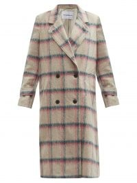 MICHELLE WAUGH The Melanie double-breasted plaid coat / women's checked coats