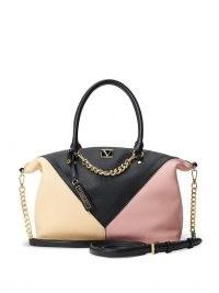 VICTORIA'S SECRET The Victoria Slouchy Satchel Blush Colourblock – colour block handbags