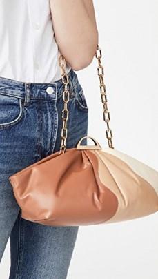 THE VOLON Gabi Bag in Brick – elongated colour block bags - flipped