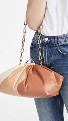 THE VOLON Gabi Bag in Brick – elongated colour block bags