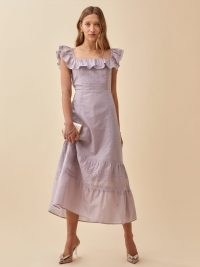 REFORMATION Tide Dress in Sweet Pea – romantic summer occasion dresses