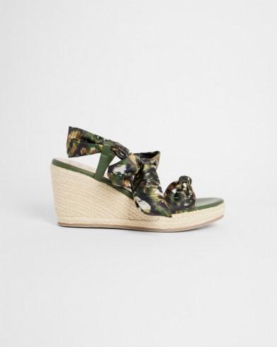 TED BAKER KELISAC Urban Camo Espadrille Sandal / wedged camouflage print sandals