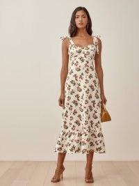 REFORMATION Vale Dress Sour Cherry / fruit print summer dresses