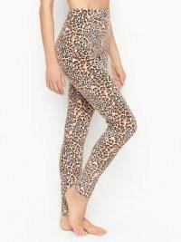 VICTORIA'S SECRET Velour Legging – soft feel leggings – animal print loungewear pants