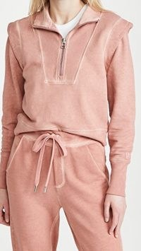 Veronica Beard Jean Dylan Sweatshirt in Rosewood / casual loungewear tops