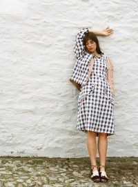 Kate Sheridan VERSA REVERSIBLE JACKET RUST/BLACK AND WHITE GINGHAM ~ checked jackets