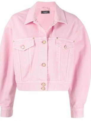 Versace cropped pink denim jacket