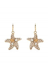Versace embellished starfish earrings / ocean inspired drops