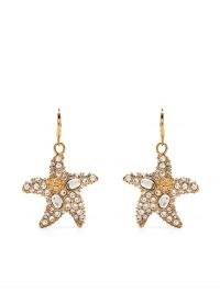 Versace embellished starfish earrings / ocean inspired drops