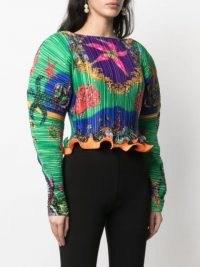 Versace Trésor de la Mer print pleated blouse