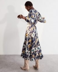 JIGSAW VINTAGE FLORAL TIERED DRESS