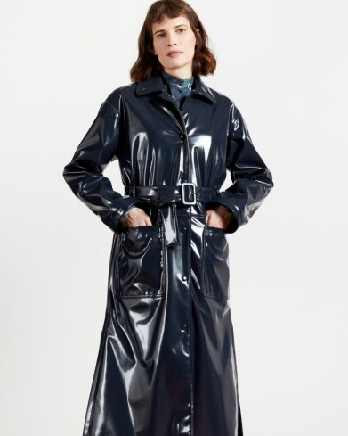 TED BAKER TINNAH Vinyl trench ~ high shine belted coats