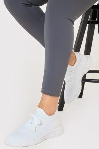 IN THE STYLE WHITE CHUNKY SOLE SPORTS TRAINERS
