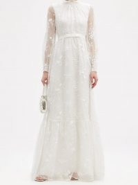 ERDEM Clementine floral-embroidered organza gown ~ feminine event wear – romantic bridal gowns