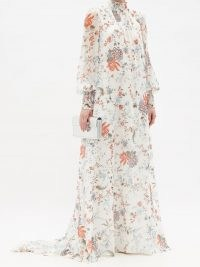 ERDEM Rosalind high-neck floral-print silk gown – romantic occasion gowns – event wear