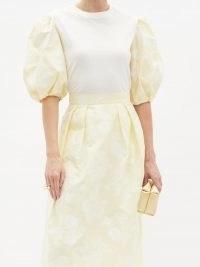 ERDEM Theodora puff-sleeve cotton-jersey T-shirt – romantic style tops