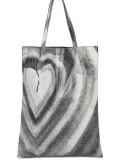 ACNE STUDIOS Aud Heart tote bag – graphic shopper bags - flipped