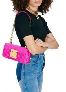 TOM FORD 001 chain medium shoulder bag Hot Pink – elongated chain strap bags