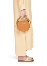 Chloé Kiss handbag Arizona Brown – small leather top handle bag