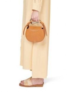 Chloé Kiss handbag Arizona Brown – small leather top handle bag - flipped