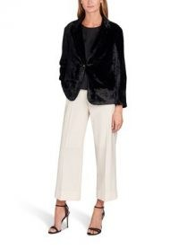 MOMONI Giunone Jacket In Elegant Velvet – black single breasted jackets
