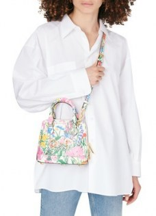GUCCI Horsebit 1955 handbag – small floral crossbody bag – mini handbags - flipped