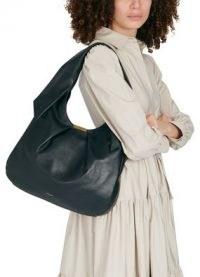 DEMELLIER Milan bag – black pleated leather shoulder bags