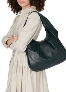 DEMELLIER Milan bag – black pleated leather shoulder bags - flipped