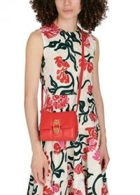 DEMELLIER Mini Alexandria bag – red leather crossbody bags