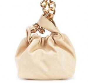 DEMELLIER Santa Monica chain bag – sand-leather mini bags - flipped