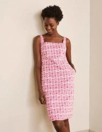 BODEN Yolande Shift Dress Party Pink, Pineapple Geo / fruit print dresses
