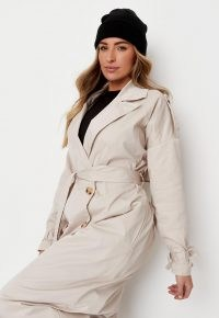 zara mcdermott x missguided stone belted maxi trench ~ modern classic coats