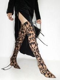Amina Muaddi Danielle 95mm thigh-high boots | leopard print footwear