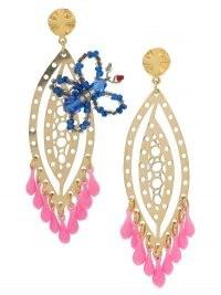 Amir Slama butterfly earrings – mismatched drops