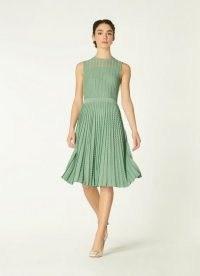 ROYAL ASCOT x L.K. BENNETT ANDREA GREEN LUREX KNITTED DRESS – sleeveless occasion dresses