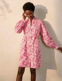 BODEN Antonia Cotton Shirt Dress / tropical palm print summer dresses