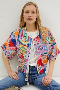 dRA Castilla Geometric Kimono Jacket – bright embroidered jackets