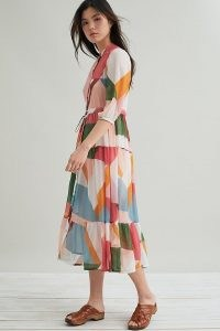 Suncoo Celena Abstract-Print Midi Dress