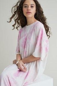 Damson Madder Tie-Dye T-Shirt Dress / maxi tee dresses