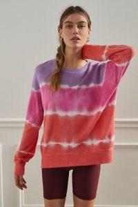 Sundry Gradient Tie-Dye Sweatshirt / bright multicoloured sweatshirts