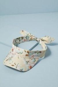 Loeffler Randall Floral-Print Visor / summer accessories
