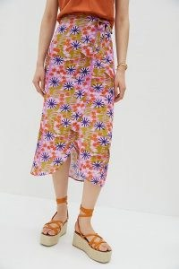 Vera Floral Midi Skirt / wrap style summer skirts