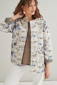 Second Female Santo Jacket ~ collarless open front organic cotton jackets