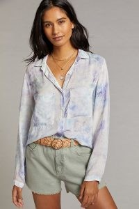 Cloth & Stone Bess Tie-Dye Buttondown / long sleeve shirts