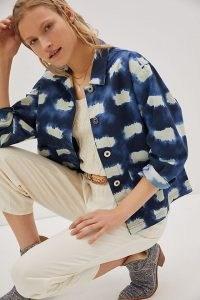 Porridge Allie Printed Jacket / casual blue dyed jackets