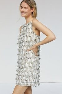 Anthropologie Lily Textured Shift Dress   sleeveless retro shift dresses   vintage style summer party fashion