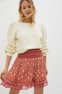 Anthropologie Adelaide Mini Skirt | floaty fabric summer skirts