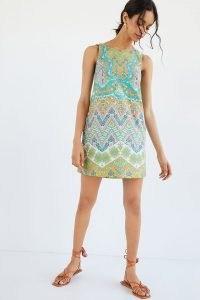 Maeve Abstract Tunic Dress   vintage style sleeveless shift dresses   retro summer mini