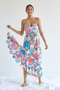 Plenty by Tracy Reese Poppies Maxi Dress / strappy empire tie waist floral dresses